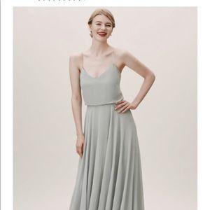 BHLDN mint bridesmaid dress